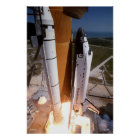 """Blast-off of the Space Shuttle """"Endeavor"""" Poster"""