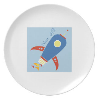 Blast Off Dinner Plate