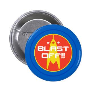 Blast Off Retro Science Fiction Space Rocket Pins
