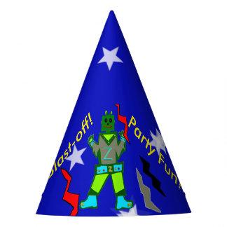 Blast Off Robot Stars Party Hats