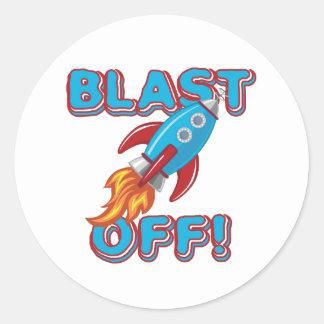 Blast Off Rocket Ship Stickers