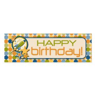 Blast Off! Skinny Gift Tag Mini Business Card