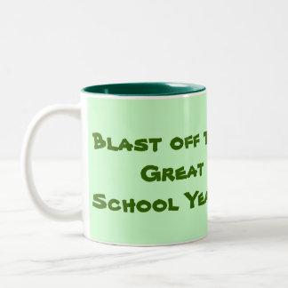blast off to a great school year Two-Tone coffee mug