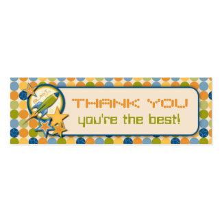 Blast Off! TY Skinny Gift Tag Mini Business Card
