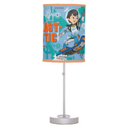 Table Lamp with Blast-tastic Miles Callisto design