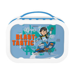 Blue yubo Lunch Box with Blast-tastic Miles Callisto design