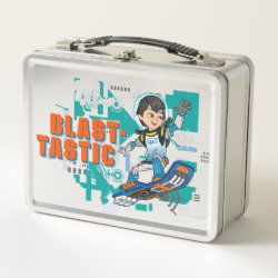 Metal Lunch Box with Blast-tastic Miles Callisto design