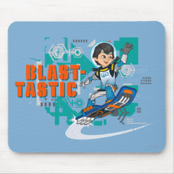 Mousepad with Blast-tastic Miles Callisto design