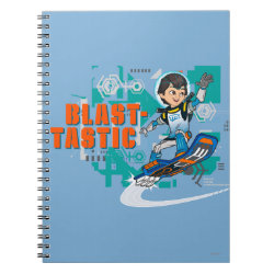 Photo Notebook (6.5' x 8.75', 80 Pages B&W) with Blast-tastic Miles Callisto design