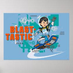 Matte Poster with Blast-tastic Miles Callisto design