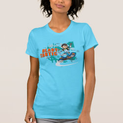Women's American Apparel Fine Jersey Short Sleeve T-Shirt with Blast-tastic Miles Callisto design