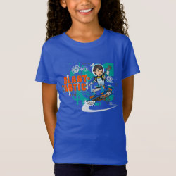 Girls' Fine Jersey T-Shirt with Blast-tastic Miles Callisto design