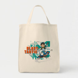 Grocery Tote with Blast-tastic Miles Callisto design