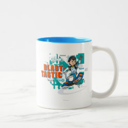Two-Tone Mug with Blast-tastic Miles Callisto design
