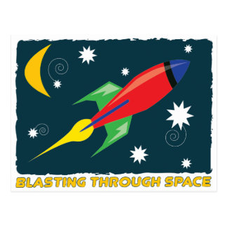 Blasting Through Space Postcards