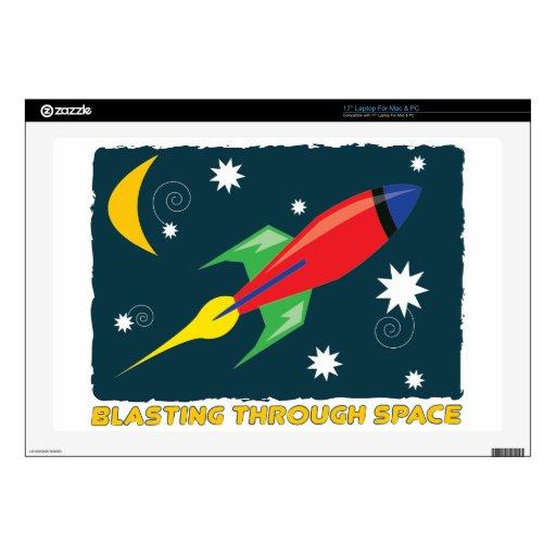 Blasting Through Space Skin For Laptop