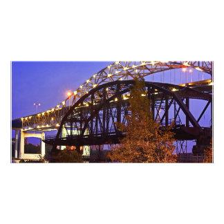 Blatnik Bridge and Fishing Pier Custom Photo Card
