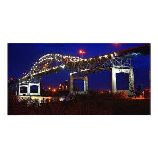Blatnik Bridge Night Custom Photo Card
