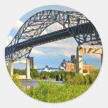 Blatnik Bridge Round Sticker