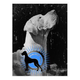 Blau de la popa de Deutsche Dogge Postales