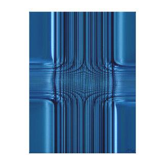 Blau Glas Canvas Print
