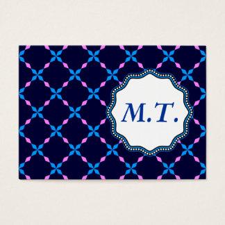 Blau rosa Bayrisch Business Card