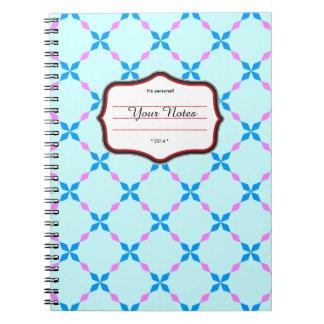 Blau rosa Bayrisch Notebook