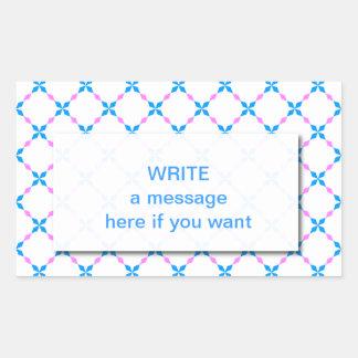 Blau rosa Bayrisch Rectangular Sticker