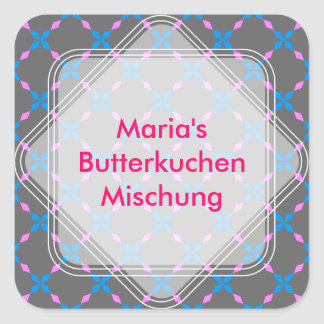Blau rosa Bayrisch Square Sticker