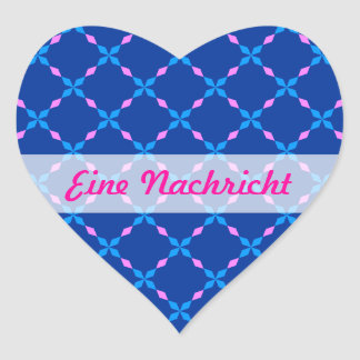 Blau rosa Bayrisch Heart Sticker
