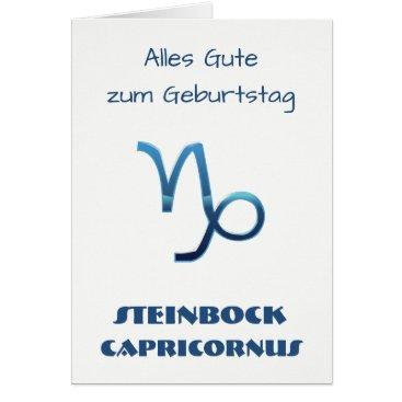 Beach Themed Blau Steinbock Zodiac Geburtstag Card