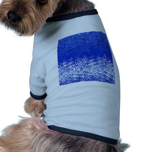 Blau und weiß camiseta con mangas para perro