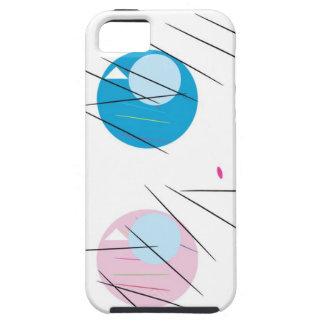 Blaue Augen, schwarze Streifen del und de Rosa iPhone 5 Case-Mate Cárcasa
