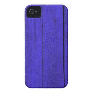 blaue Holzwand iPhone 4 Covers