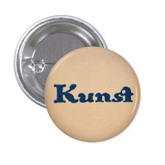Blaue Kunst 1 Inch Round Button