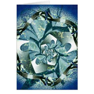 blaue Rosette Card