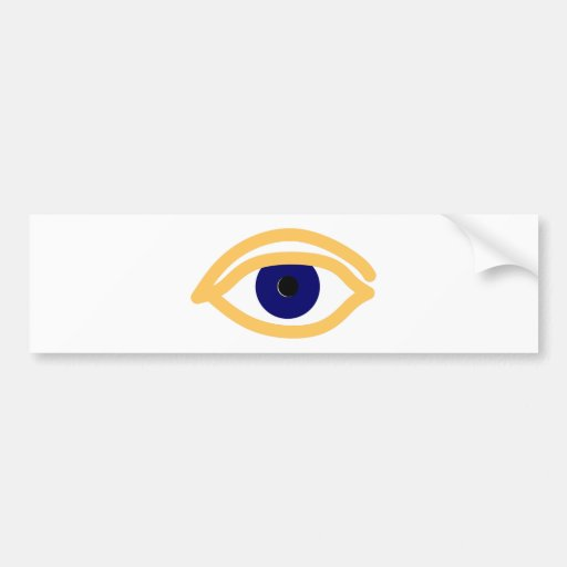 blaues auge blue eye bumper sticker zazzle. Black Bedroom Furniture Sets. Home Design Ideas