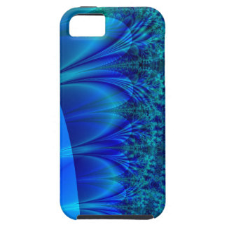 Blaues Desprecia-Fraktal iPhone 5 Case-Mate Fundas
