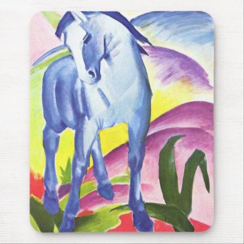 Blaues Pferd I by Franz Marc Mousepad zazzle_mousepad