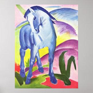 Blaues Pferd I by Franz Marc Poster