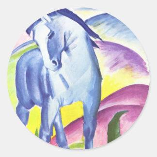 Blaues Pferd I by Franz Marc Sticker