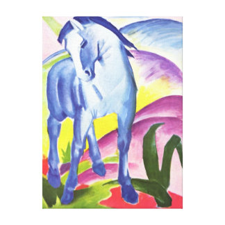 Blaues Pferd I by Franz Marc Wrapped Canvas Print