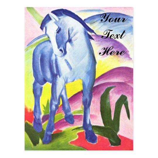 Blaues Pferd I por la postal de Franz Marc