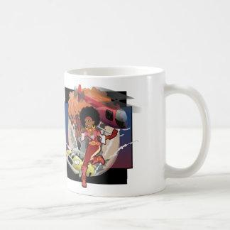 blaxploitation afro spy coffee mug
