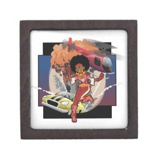 blaxploitation afro spy jewelry box