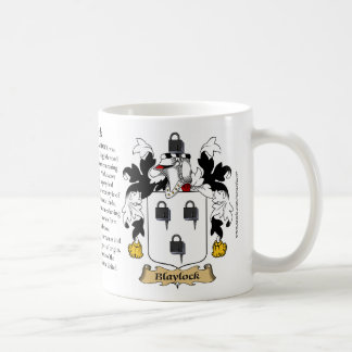 Blaylock, the Origin, the Meaning and the Crest Coffee Mug