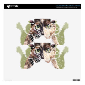 Blaze domestic short hair decal for PS3 controller