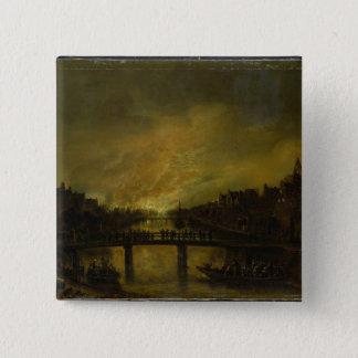 Blaze in Amsterdam Pinback Button
