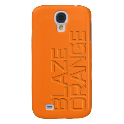 Blaze Orange High Visibility Hunting Galaxy S4 Covers