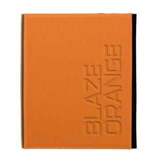 Blaze Orange High Visibility Hunting iPad Folio Cases